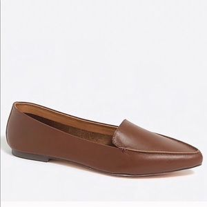 J.Crew Cognac Leather Loafer Flats